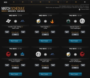 LCS Super week Schedule
