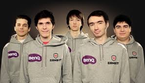 League of Legends Team Gambit Gaming shwoing all 5 members