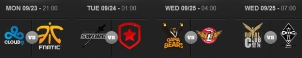 Quarterfinals Schedule LoL World Championship 2013