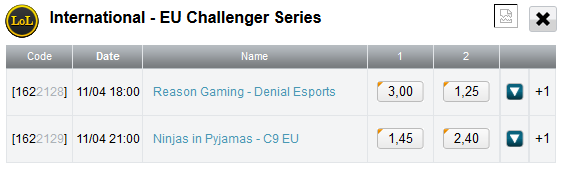 LCS EU Challenger finals and 3rd place schedule and betting odds