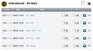 LoL All-Stars Day 2 schedule and betting odds - eSportsventure