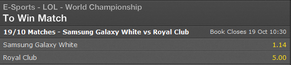 Finals LoL World Championship 2014 - Schedule and Betting Odds - Bet365