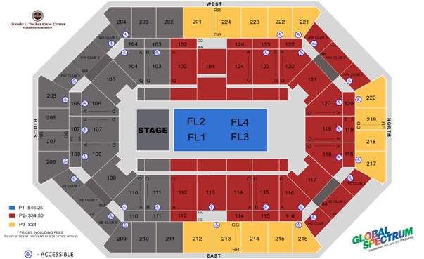 MSI venue Donald Trucker Civic Center Seating Chart