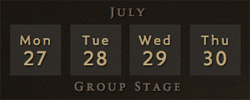 TI5 schedule july group stage