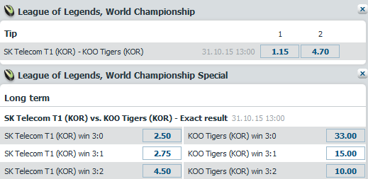 LoL Worlds 2015 - Schedule and betting odds - Finals - bet-at-home