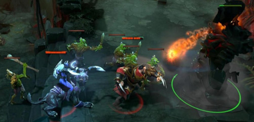 Dota 2 tower attack