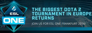 ESL One Frankfurt 2016 Dota 2 Tournament