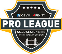 CEVO Gfinity Pro League Finals CSGO Tournament Logo