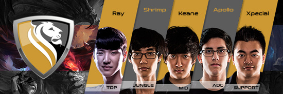 Team Apex Gaming Roster LCS NA 2016 Summer Split all Players