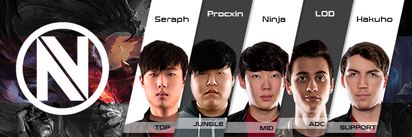 Team Envy Roster LCS NA 2016 Summer Split all Players