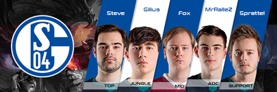 Team FC Schalke 04 Roster LCS EU 2016 Summer Split all Players