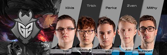Team G2 Esports Roster LCS EU 2016 Summer Split all Players
