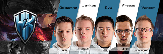 Team H2K Roster LCS EU 2016 Summer Split all Players