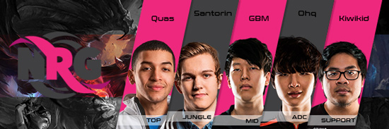 Team NRG Esports Roster LCS NA 2016 Summer Split all Players