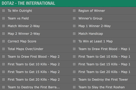 betting options ti6 main event bet365
