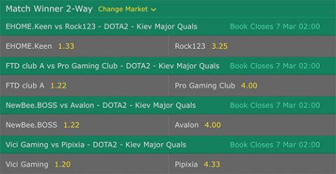 Bettingoptions Qualifier Kiev Major 2017 bet365