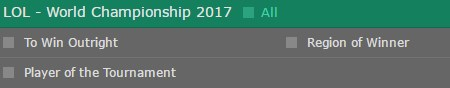 Bet365 LoL Worlds 2017 Betting Odds 1