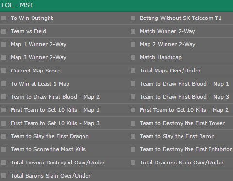 LOL MSI Playoffs Special Bets