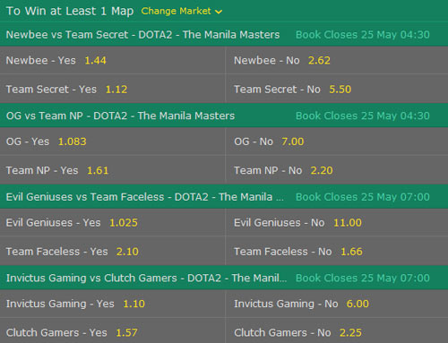 manila masters 2017 dota2 betting odds to win atleast one map