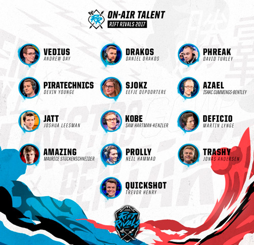 NA LCS EU LCS On Air Talent Rift Rivals 2017