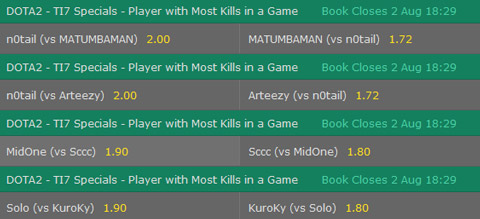 TI7 Dota2 player with the most kills in one game specialbet bet365