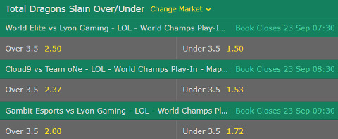 Play In Stage Dragons Slain Lol Worlds 2017 bet365