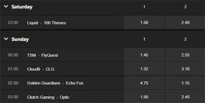 NA LCS week 7 betting odds betway