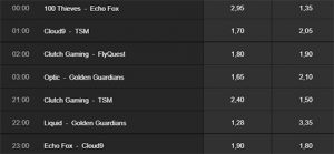 NA WEEK 5 Betting odds betway