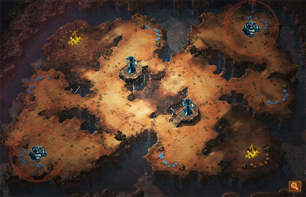 StarCraft 2 Site Map: Blistering Sands