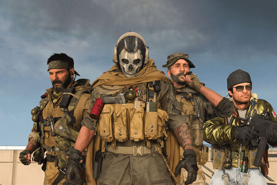 Warzone promotional image, featuring some of the loved CoD characters